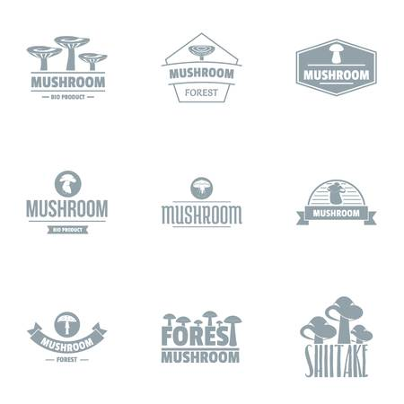 Mycelium logo set, simple style