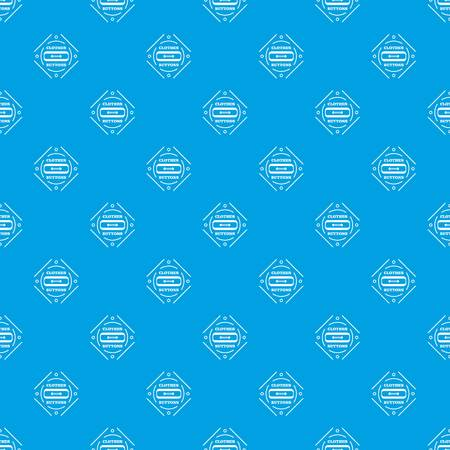 Clothes button plastic pattern vector seamless blue