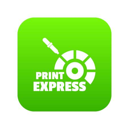 Print express icon green vector