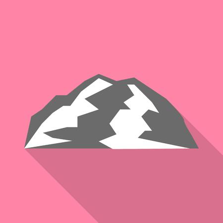 Bergbeklimmen pictogram, vlakke stijl