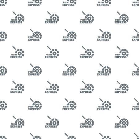 Print express pattern vector seamless Illustration