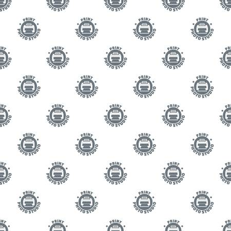 Print photo studio pattern vector seamless