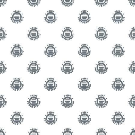 Print photo studio pattern vector seamless