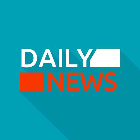 Daily news logo, flat style