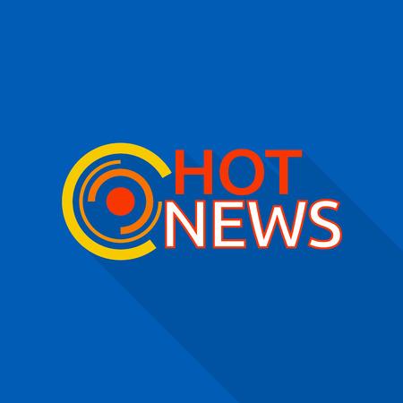New hot news  , flat style