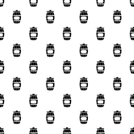 Honey barrel pattern vector seamless Illustration