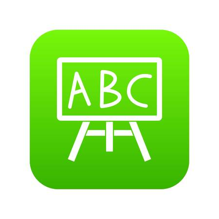 Chalkboard with the leters ABC icon digital green