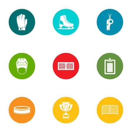 Sportive icons set, flat style Illusztráció