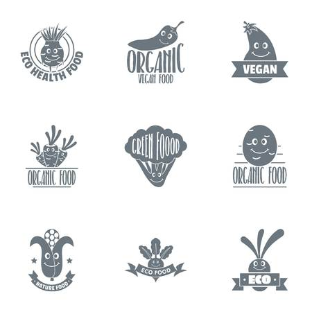 Organo logo set, simple style