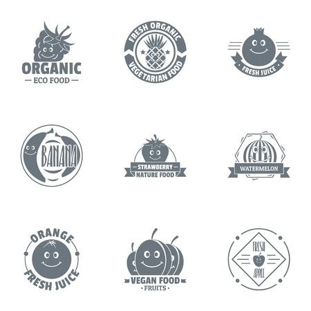Fresh organic  set, simple style Ilustração