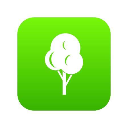 Autumn tree icon digital green  イラスト・ベクター素材