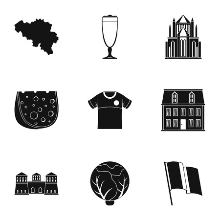 European cuisine icons set. Simple set of 9 european cuisine vector icons for web isolated on white background