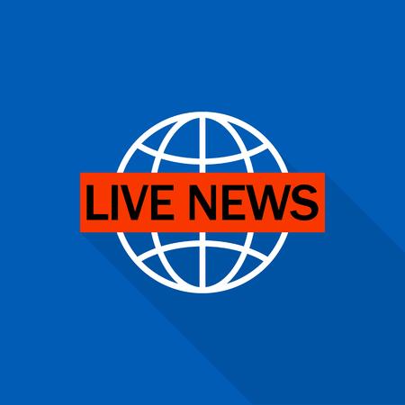 Live global news  . Flat illustration of live global news vector  for web design