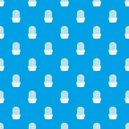 Echinocereus pattern vector seamless blue repeat for any use