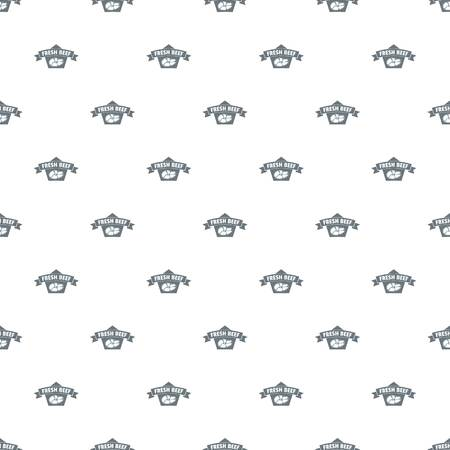 Fresh eco beef pattern vector seamless repeat for any web design