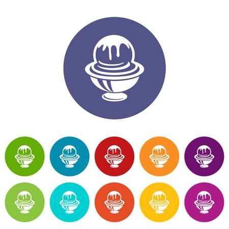Ice cream in cup with frosting icon. Outline illustration of ice cream in cup with frosting vector icon for web Ilustração