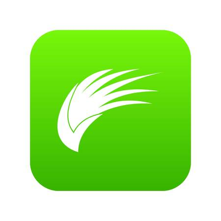 Wing icon digital green for any design isolated on white vector illustration