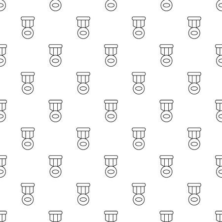 Hockey medal pattern vector seamless repeating for any web design Illustration