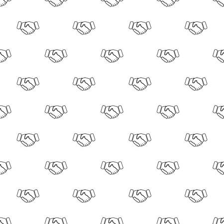 Handshake ice hockey pattern vector seamless repeating for any web design