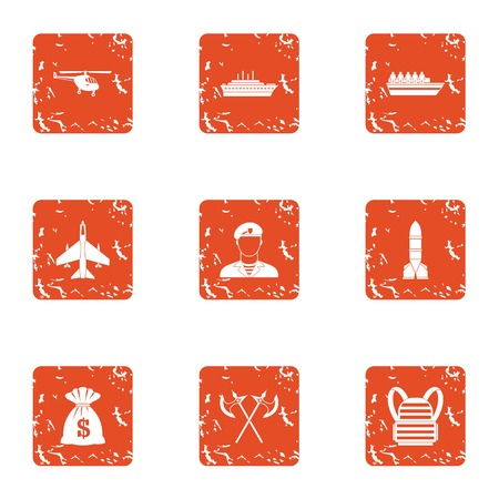 Feat icons set. Grunge set of 9 feat vector icons for web isolated on white background Stock Illustratie