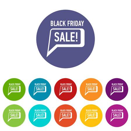 Bubble speech sale black friday icon. Simple illustration of bubble speech sale black friday vector icon for web Ilustrace