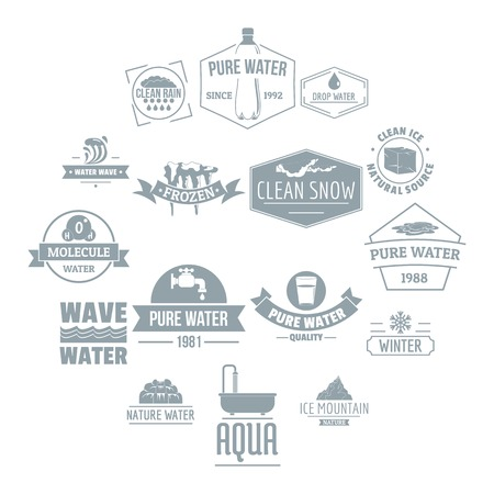 Water  icons set. Simple illustration of 16 water  vector icons for web Illustration