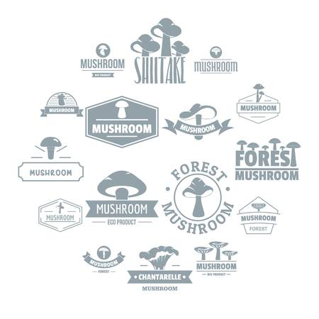 Mushroom forest  icons set. Simple illustration of 16 mushroom forest  vector icons for web
