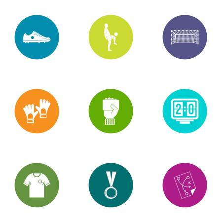 Frolicsome icons set. Flat set of 9 frolicsome vector icons for web isolated on white background