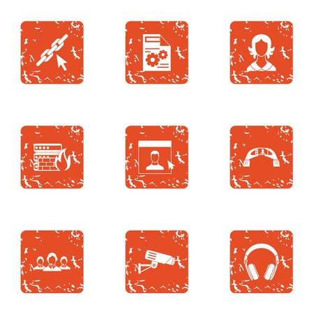 Remedy icons set. Grunge set of 9 remedy vector icons for web isolated on white background  イラスト・ベクター素材