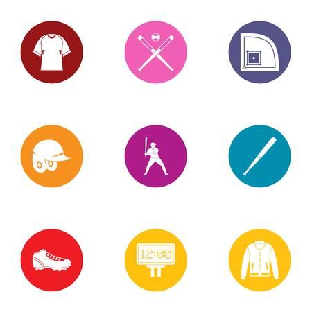 Sport marathon icons set. Flat set of 9 sport marathon vector icons for web isolated on white background
