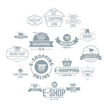 Shopping  icons set. Simple illustration of 16 shopping  vector icons for web Illustration
