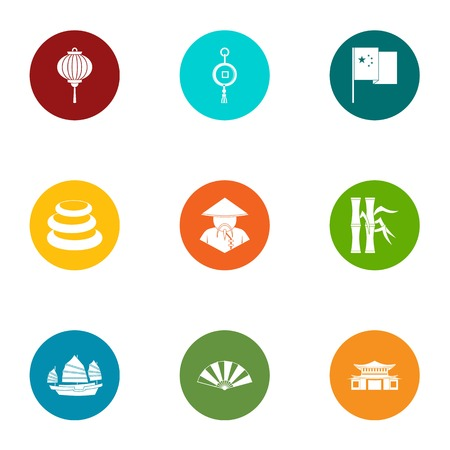 Vietnam icons set. Flat set of 9 vietnam vector icons for web isolated on white background