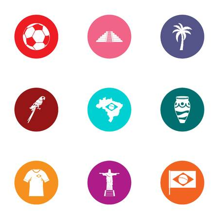 Easy life icons set. Flat set of 9 easy life vector icons for web isolated on white background Illusztráció