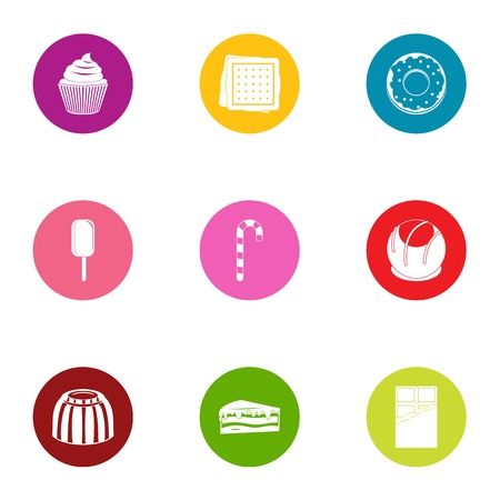 Appetizing icons set. Flat set of 9 appetizing vector icons for web isolated on white background