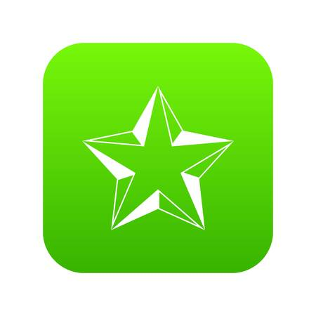 Star icon digital green