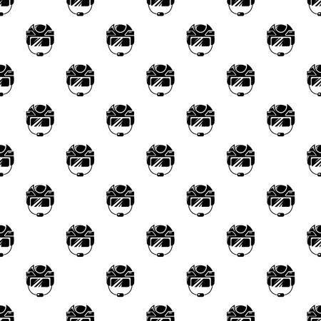 Hockey helmet pattern vector seamless Illusztráció