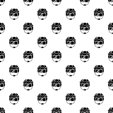 Hockey helmet pattern vector seamless Illustration