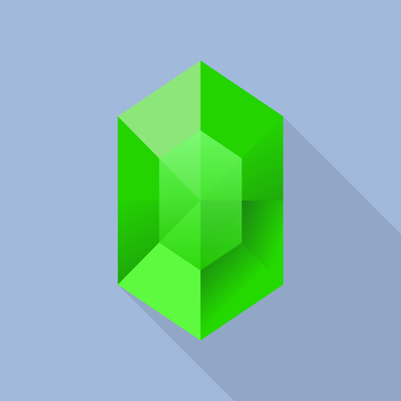 Emerald icon, flat style Illustration