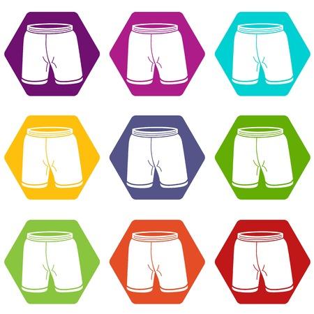 Shorts icons set 9 vector Banque d'images - 101621961