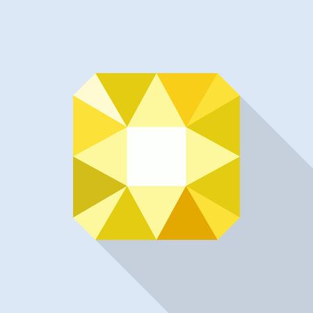 Citrine icon, flat style