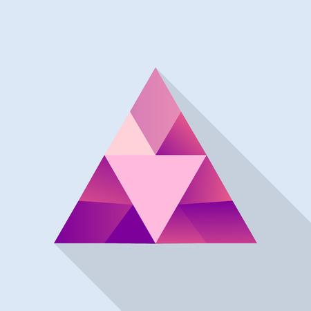 Shiny ruby icon, flat style