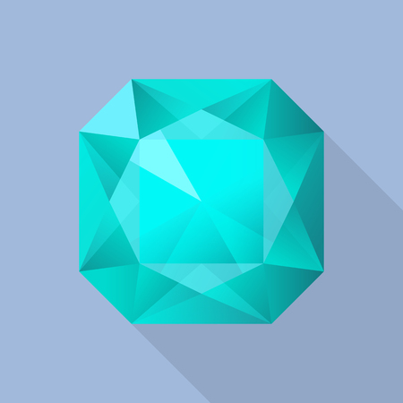 Perfect aquamarine icon, flat style