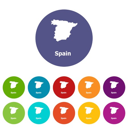 Spain map icon, simple style