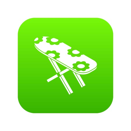 Ironing board icon green vector Иллюстрация
