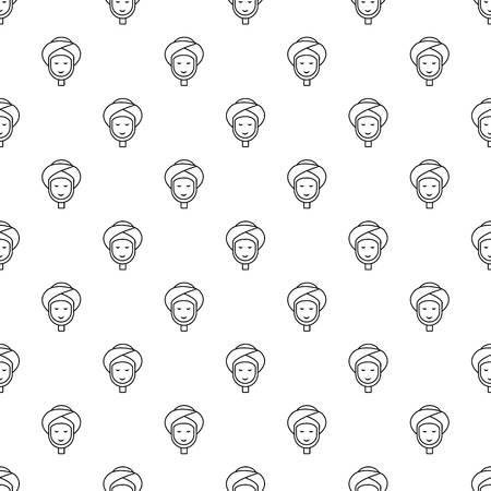 Facial spa treatment pattern vector seamless Illustration