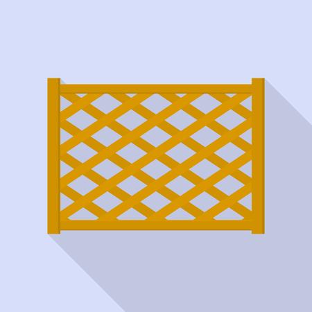 Wood fence icon, flat style