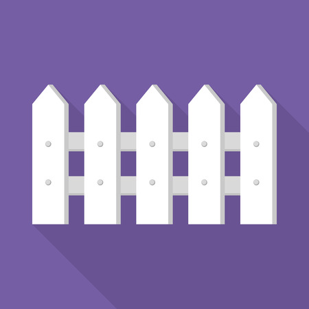 White wood barrier icon, flat style