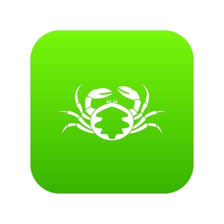 Fresh live crab icon digital green