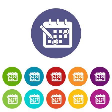 Mark calendar icon, simple style Illustration