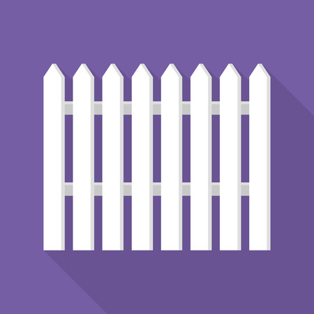 Hight white barrier icon, flat style